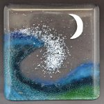 Wave - The moon is cut from 98% pure silver foil.